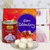 Bhaiya Rakhi with 1kg Rasgulla & Cadbury Celebration