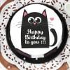 Buy Black Cat Birthday Cake (Eggless) (Half Kg)