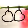 Black Heart Shaped Earrings