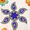 Blue Paisley Designed Rangoli