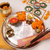 Brass Puja Thali & Bell With Lota & Incense Stick Hamper