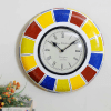Bright Coloured Brass Wall Clock