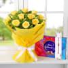 Bunch of 10 Roses with Rakhi & Celebration