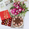 Bunch of Orchids with Black Forest Cake (Eggless) & Chocolates