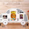Car Shaped Personalized Photo Frame with Clock