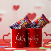 Ceramic Mugs with Chocolates