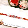 Charming Stone & Bead Work Rakhi