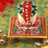 Gift Chauki Ganesh with Moong Dal Barfi (400 gm)