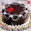 Chocolate Cake (Eggless) with Cherry Toppings (Half Kg)