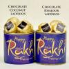 Chocolate Coconut and Chocolate Khajoor Laddoo Cans Combo