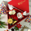 Chocolates & Cookies with Christmas Ornaments in Gift Box