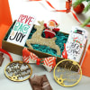 Chocolates with Glitter Reindeer & Xmas New Year Ornaments