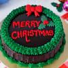 Christmas Chocolate Cake (Eggless) (1 Kg)