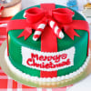 Christmas Designer Gift Cake (Eggless) (2 Kg)