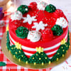 Christmas Theme Cake (Eggless) (1 Kg)