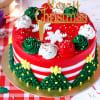Christmas Theme Cake (Eggless) (2 Kg)
