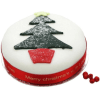 Christmas Tree Fruit 6 inches Cake