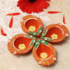 Clay Diya Set