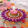 Colorful Floating Diya