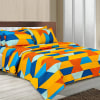 Colorful Geometric Design Double Bed Bedsheet Online