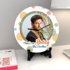 Gift Colorful Personalized Clock with Roli Chawal