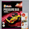 Colorful Scooter Toy Kids Rakhi with 3D Puzzle Pressure Bus Toy