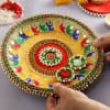Buy Colorful Zari Work Puja Thali