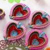 Colourful Heart Shape Clay Diyas