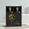 Cosmo Cocktail Personalized Birthday Greeting Card