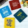 Gift Customized Positive Quotes  Coasters - Set of 4