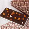 Dark Chocolate Bar Topped with Roasted Almonds