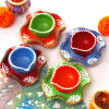 Decorative Painted Clay Diyas