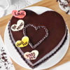 Buy Delicious Heart-shaped Chocolate Cake (Half Kg)