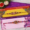 Designer Bead Work Rakhi Set