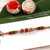 Designer Multicolored Beaded Crystal Rakhi
