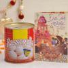 Diwali Card With 1 Kg Rassogulla