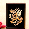 Dragon Wooden Relief Painting