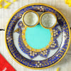 Buy Dry Fruits Potli with Decorative Marble Puja Thali