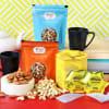 Dry Fruits & Tea with Mug Set in Panel Tray Hamper