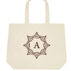 Ecofriendly Deluxe Tote Bag - Customize with Name Initial