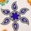 Elegant Blue Paisley Rangoli