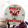 Elegant Meenakari Rakhi with Best Brother Clock and Chocolates