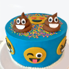 Emoji Semi Fondant Cake - (3 Kg)