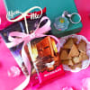 Fabelle Choco Deck Chocolates & Nutty Chips With LED Key Chain