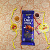 Family Rakhi Set with Cadbury Dairy Milk Chocolate