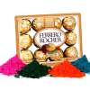 Ferrero Rocher with 4 Shades of Holi Gulal