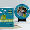 Fill your home with love Personalized Clock & Card combo Online