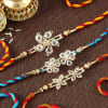 Floral Designer Rakhi Set of 3