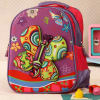 Floral Print Butterfly School Bag
