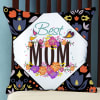 Floral Print with Best Mom Design on Satin Cushion
